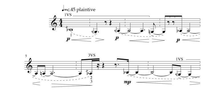 24 Microtonal Studies for Trumpet. Study 1 (extract).
